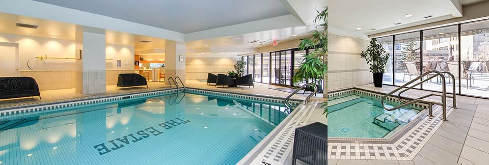 The Estate offers both a swimming pool and hot tub as part of our luxury condo amenities
