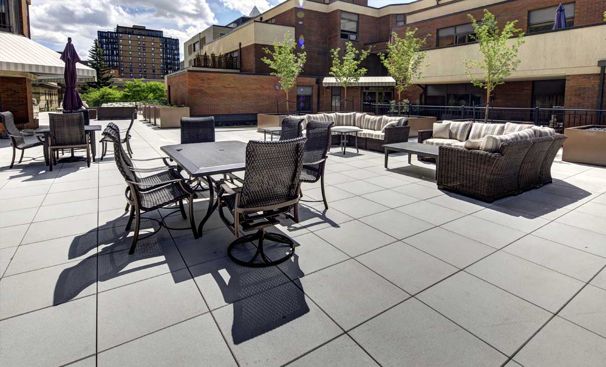 Patio living in Calgary at luxury condominium The Estate